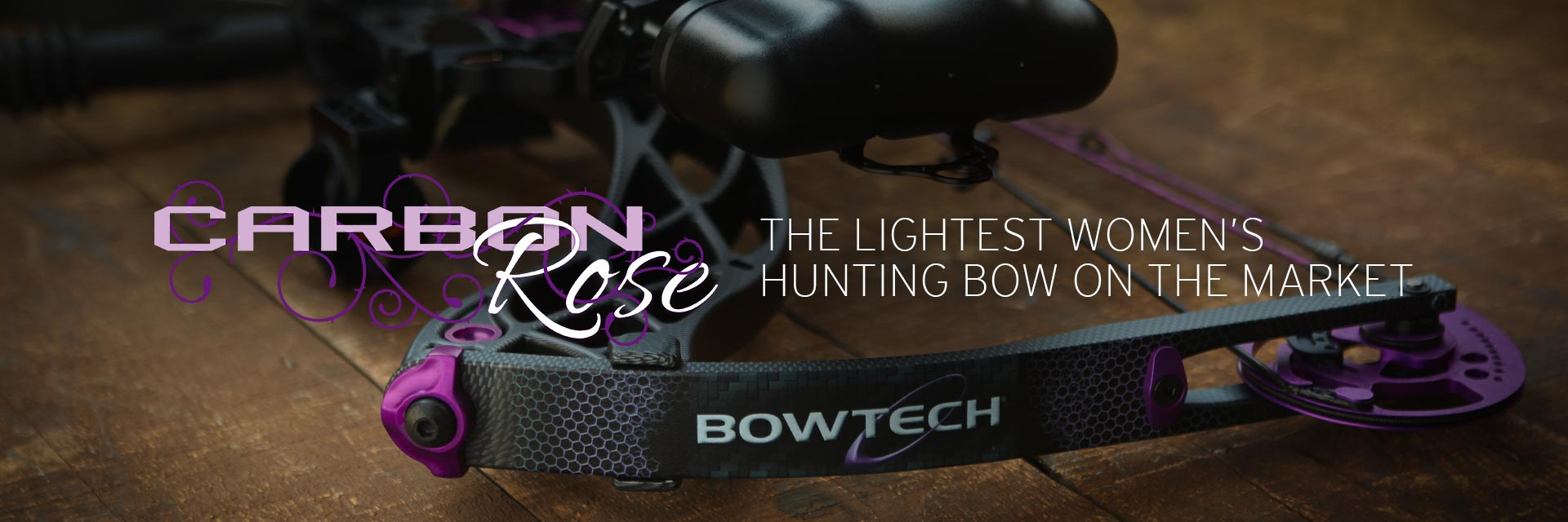 Carbon Rose - The lightest women's hunting bow on the market